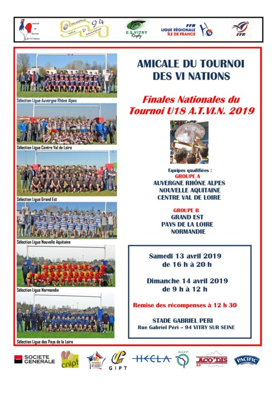 Rugby : Amicale du Tournoi des VI Nations