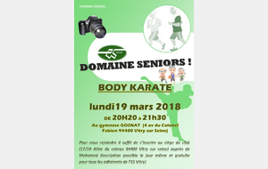 Le Body Karaté Seniors
